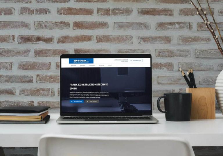Neue Website Frank Konstruktionstechnik